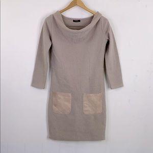 Alpha Wool Sheath Sweater Dress